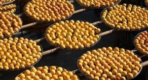 Chińscy rolnicy suszą owoce kaki na dachach