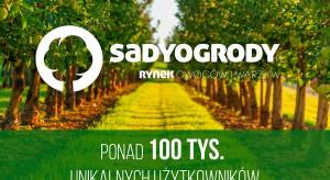 Liczba użytkowników portalu SadyOgrody.pl przekroczyła 100 tys.