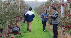 Młodzi rolnicy z Chin odwiedzili polskie sady i szkoły rolnicze