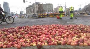 Niezapowiedziany protest rolników z  Agrounii w centrum Warszawy