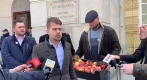 AGROunia i nadgniłe jabłka w happeningu pod Kancelarią Premiera (wideo)