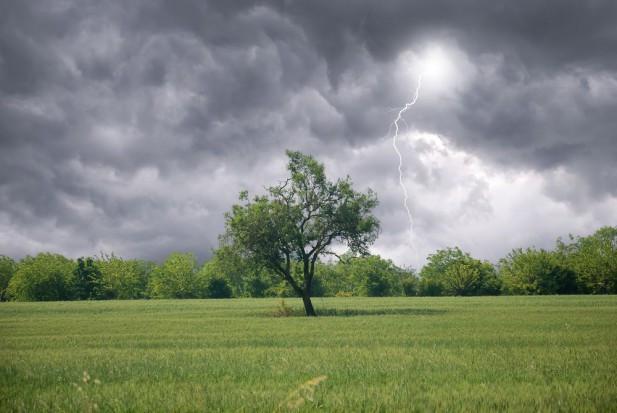 Niebezpieczna pogoda. Prognozowane są burze z gradem