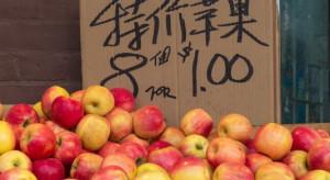 Chiny: Rosną ceny owoców. Jabłka zdrożały o prawie 30 proc.