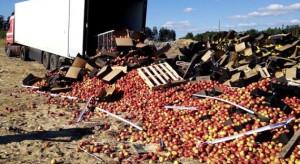 Rosja nie odpuszcza. Zniszczono 140 ton jabłek