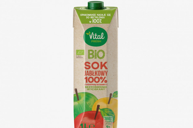Sokpol wprowadza soki jabłkowe w opakowaniach pochodzenia roślinnego