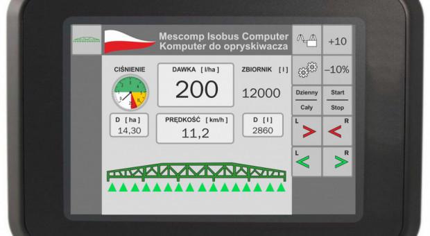 Mescomp produkuje komputer Isobus do obsługi opryskiwaczy