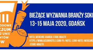 XXIII Międzynarodowe Sympozjum Stowarzyszenia Krajowa Unia Producentów Soków 13-15 maja 2020 w Gdańsku