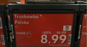 Polskie truskawki w lutym? AgroUnia walczy z błędnym znakowaniem żywności