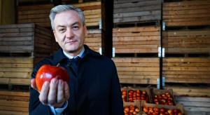 Robert Biedroń odwiedził sadowników w Grójcu
