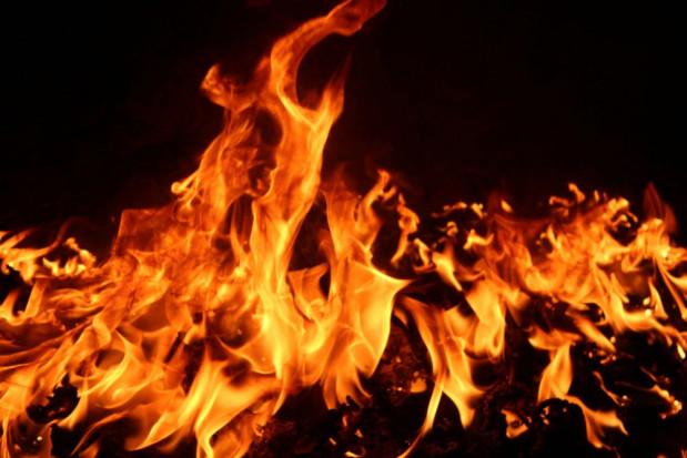Łódzkie: Pożar w fabryce palet pod Sieradzem