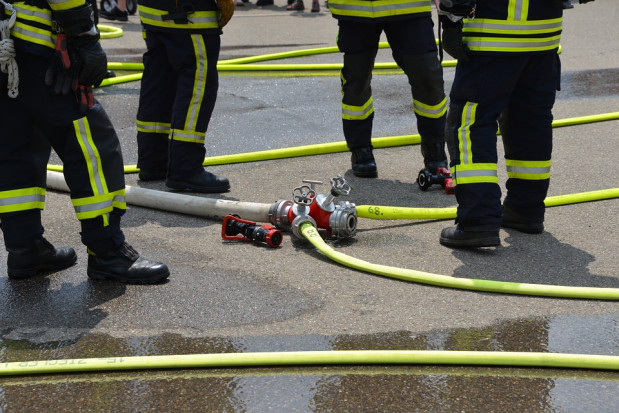 Pożar w przetwórni owoców w gminie Czempiń