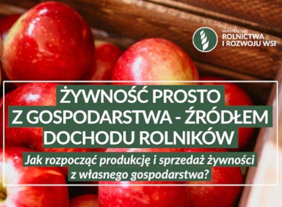 Jak rozpocząć produkcję i sprzedaż żywności z własnego gospodarstwa? MRiRW podpowiada