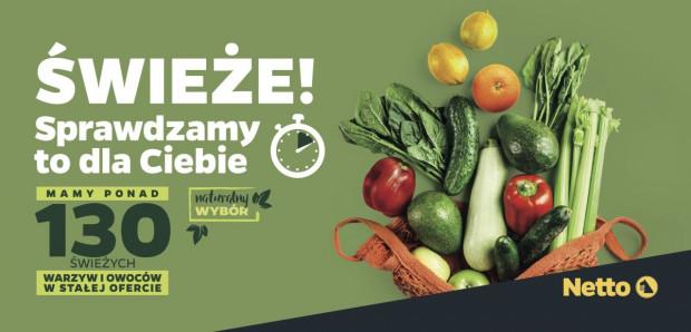 Netto będzie promować świeżość owoców i warzyw