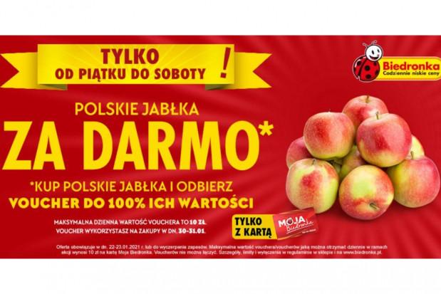 Biedronka rozdaje polskie jabłka za darmo