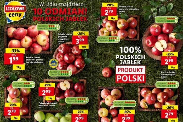 Lidl: 10 odmian jabłek w promocji - od 1,99 do 3,99 zł/kg