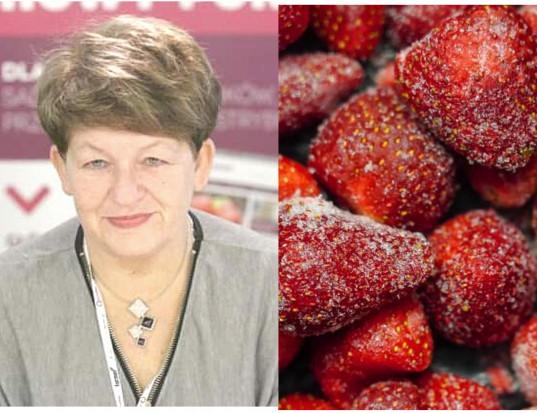 Dr Nosecka: Spadły ceny i eksport mrożonej truskawki. Winna jest jakość