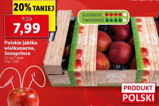 Lidl: Jonaprince sprzedawane jako polskie jabłka wielkanocne - 3,6 zł/kg