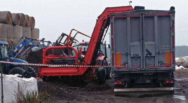 Łódzkie: Rolnik ucierpiał przy załadunku warzyw na ciężarówkę