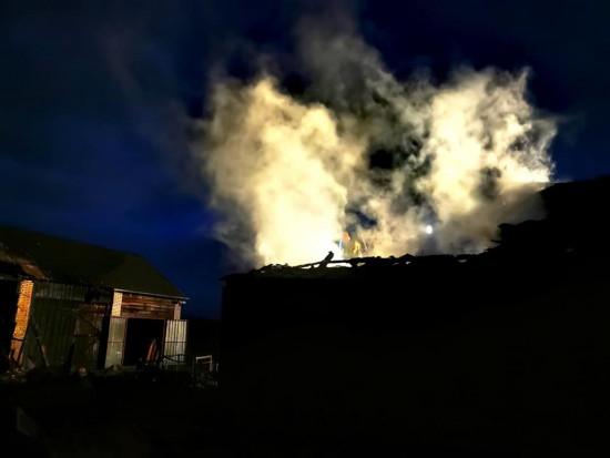 Pożar gospodarstwa na Mazowszu