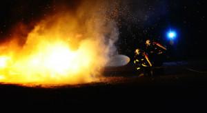 Mazowsze: pożar w tunelu warzywniczym pod Białobrzegami