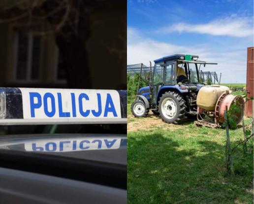 Wypadek podczas podłączania opryskiwacza; Policja apeluje o ostrożność