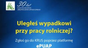 KRUS: zgłoszenie wypadku przy pracy rolniczej możliwe przez platformę ePUAP