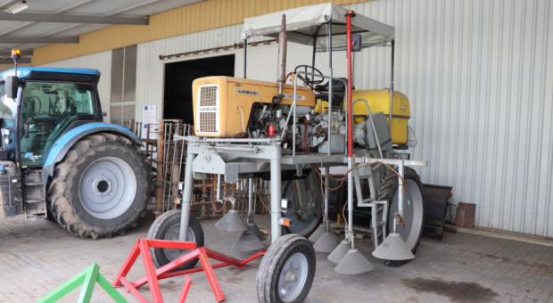 Ursus C-360 jako opryskiwacz samojezdny w szkółce