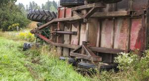 Wypadek w sadzie. Traktor zgniótł sadownika