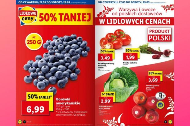 Lidl i Biedronka: jakie ceny borówek, malin, polskich jabłek i nowalijek?