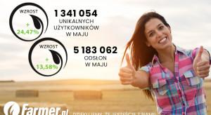 W maju portal farmer.pl odwiedziło ponad 1,3 mln użytkowników!