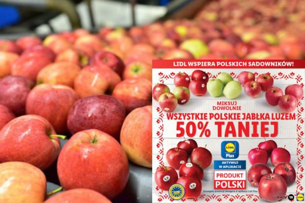 Lidl kupił od sadowników zapasy jabłek z ubiegłorocznych zbiorów