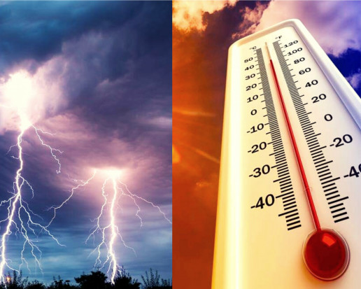 Pogoda na poniedziałek: upał do 33 st. C i burze z gradem