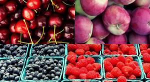Czereśnie, borówki, maliny i jabłka letnie - ceny owoców na Broniszach
