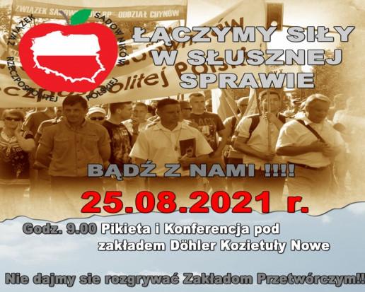 Sadownicy zapowiadają pikietę i konferencję pod zakładem Döhler