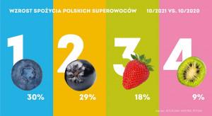 Konsumenci coraz częściej spożywają borówki, aronie, truskawki i minikiwi